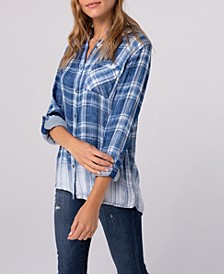 Ombre Plaid One Pocket Shirt
