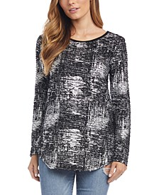 Metallic Shirttail Top