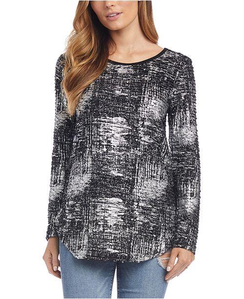 Karen Kane Metallic Shirttail Top