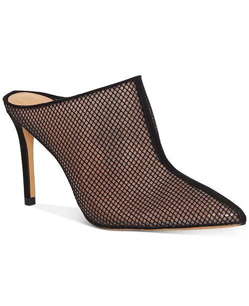 INC International Concepts INC Women's Kamaya Pointed-Toe Heeled Mules, Created for Macy's