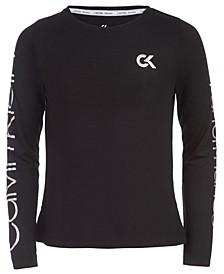 Big Girls Running Logo Long-Sleeve T-Shirt