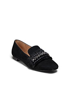 Beatrix Jeweled Suede Loafers