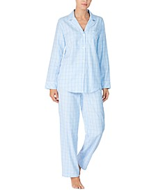 Petite Cotton Brushed Twill Pajama Set
