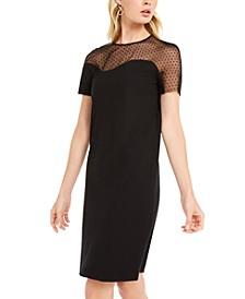 Asymmetrical Swiss-Dot Dress