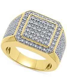 Men's Diamond Multi-Cluster Ring (2 ct. t.w.) in 10k Gold