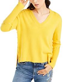 V-Neck Rivet Sweater