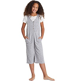 Big Girls Rib-Knit Jumpsuit