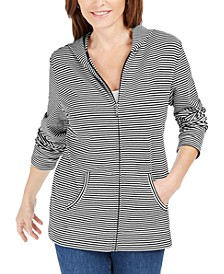 Mini-Striped Zip Hoodie, Created for Macy's