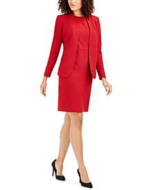 Zip-Pocket Jacket and Sheath Dress