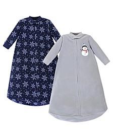 Girl Fleece Long Sleeve Sleeping Bag 2 Pack