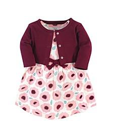 Toddler Girl Organic Dress and Cardigan