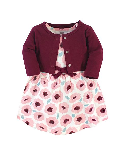 Touched by Nature Toddler Girl Organic Dress and Cardigan