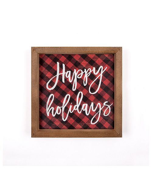 P Graham Dunn Happy Holidays Wall Art