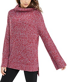 Juniors' Flare-Sleeved High-Low Sweater, Created For Macy's