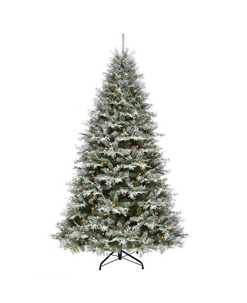 National Tree Company 7.5 ft. Snowy Stonington Fir Tree with Dual Color® LED Lights