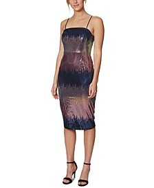 Ombré Sequin Midi Dress