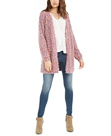 Juniors' Textured Marled Cardigan Sweater, Created For Macy's