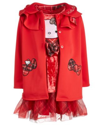 Little Girls Plaid-Bow Coat
