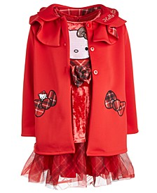 Little Girls Ruffle Jacket & Velvet Dress