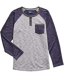 Big Boys Statement Colorblocked Brushed Henley