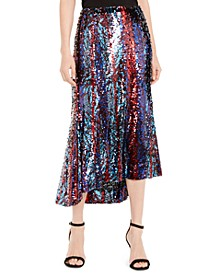 Venice Asymmetrical Sequin Skirt