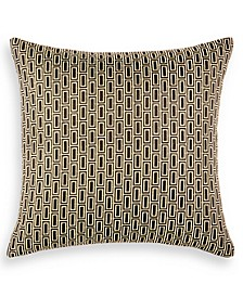 """Linear Chevron 20"""" x 20"""" Decorative Pillow, Created for Macy's"""