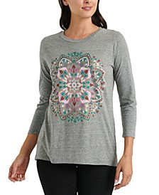 Mandala 3/4-Sleeve T-Shirt