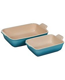 Set of 2 Heritage Rectangular Dishes