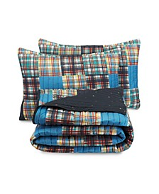 Kids Plaid 3-Piece Full Quilt Set