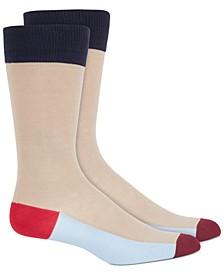 Men's Colorblocked Stripe Socks, Created For Macy's