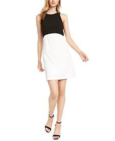 Petite Colorblocked A-Line Dress