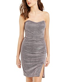 Juniors' Glitter Strapless Dress