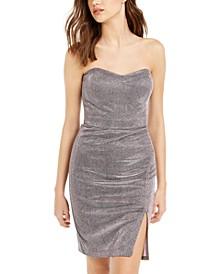 Juniors' Glitter Strapless Dress