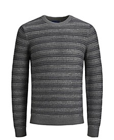 Men's Extra Fine Cotton Acrylic Crew Neck Long Sleeve Sweater
