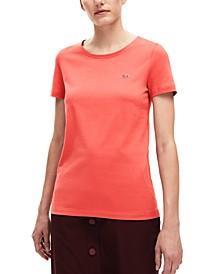 Women's Classic Short Sleeve Jersey Crew Neck Tee Shirt