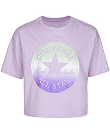 Big Girls Cotton Pearlized Gradient Logo T-Shirt