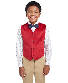 Big Boys Classic-Fit Velvet Suit Vest