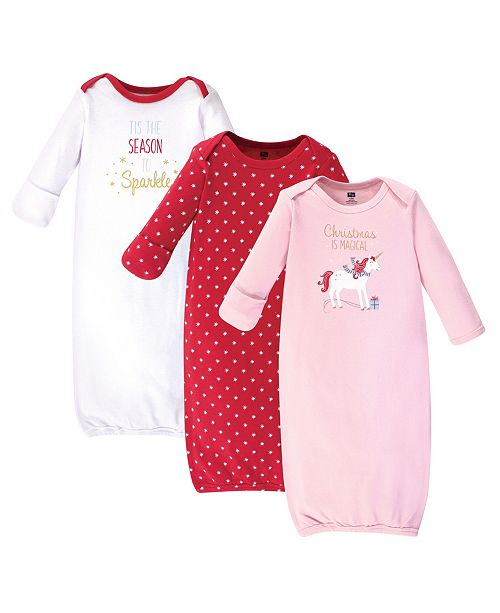 Hudson Baby Girl Gowns 3 Pack