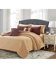 Harper Lane Solid 9 Piece Bed In A Bag Set, Queen