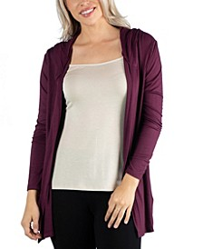 Long Sleeve Pocket Hoodie Cardigan