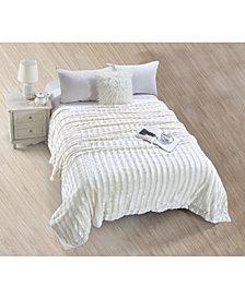 De Moocci Striped Super Soft Blanket - Twin
