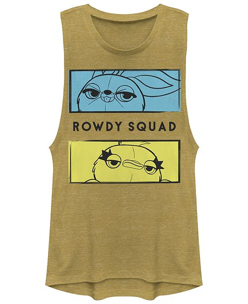 Disney Pixar Juniors' Toy Story 4 Rowdy Boxes Festival Muscle Tank Top