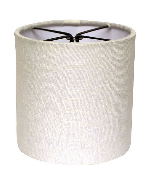 Cloth&Wire Slant Bell Softback Lampshade with Bulb Clip