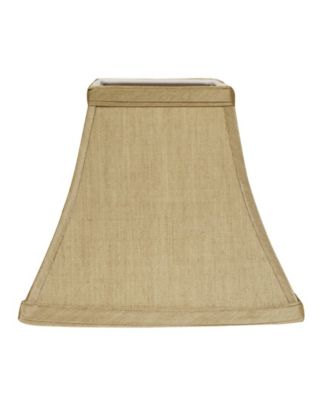 Slant Empire Hardback Lampshade with Bulb Clip with White Lining