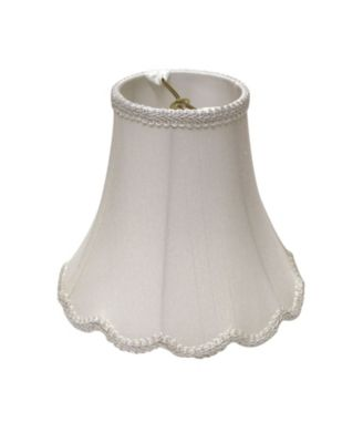 Slant Scallop Bell Softback Lampshade with Washer Fitter
