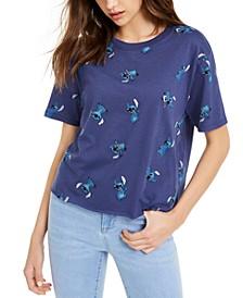 Juniors' Stitch-Print T-Shirt