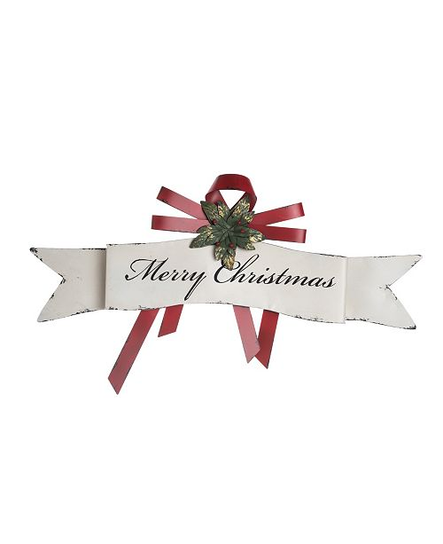 """Trans Pac Metal """"Merry Christmas"""" Banner Wall Décor"""