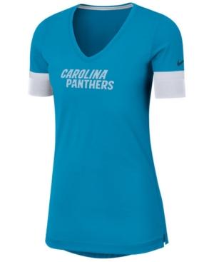 Nike Women's Carolina Panthers Dri-fit Fan Top