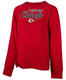 Big Girls Kansas City Chiefs Tie Fleece Pullover