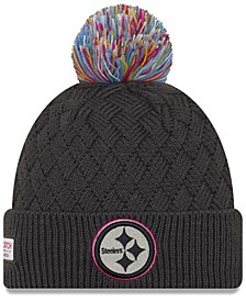Women's Pittsburgh Steelers On-Field Crucial Catch Pom Knit Hat